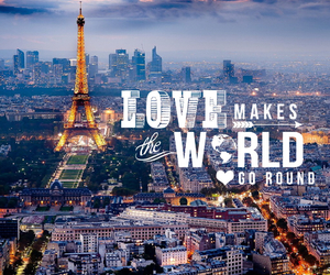 eiffel tower, paris, and love image