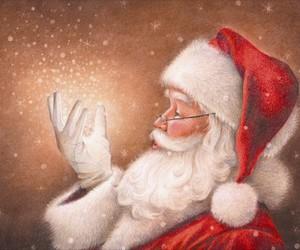 santa claus, christmas, and presents image