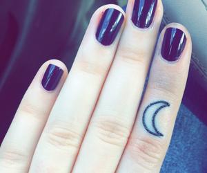 tattoo, moon, and nail art image