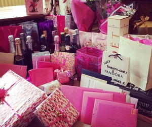 luxury, pink, and gift image