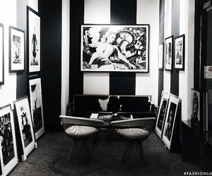art, black and white, and home decor image