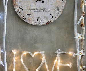 clock, romantic, and love image