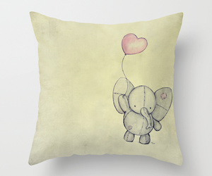 art illustration, throw pillow, and bed image