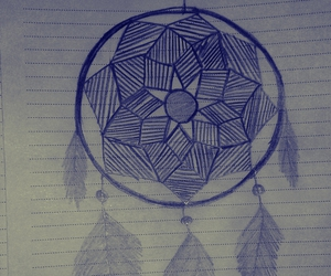 art, dream catcher, and zentangle image