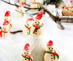 christmas, dessert, and macaroons image
