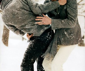 boys, Hot, and snowing image