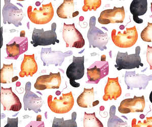 cats, pattern, and cute image