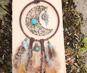 moon, sun, and dreamcatcher necklace image
