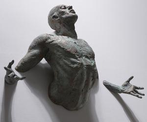 art, sculpture, and man image