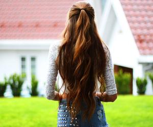 hair, girl, and long image