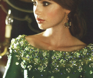 lily collins, green, and pretty image