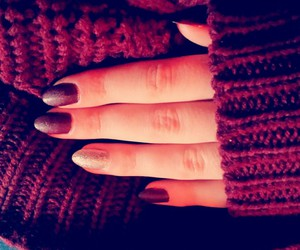christmas, nails, and sweater image