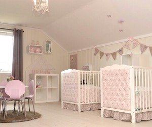 attic, pink, and girls room image