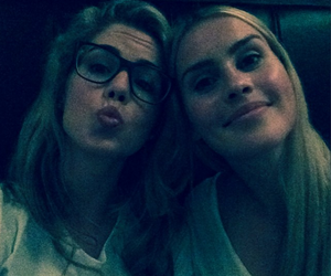 emily bett rickards, arrow, and claire holt image