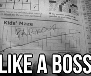 parkour, boss, and funny image