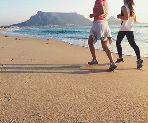 beach, cape town, and fitness image