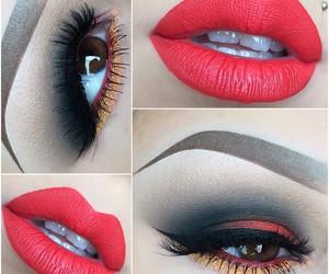 eyeshadow, lips, and makeup image