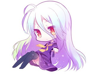 no game no life, anime, and shiro image