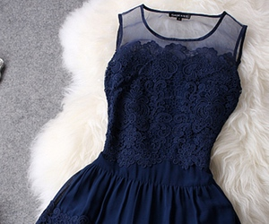 blue, dress, and pretty image