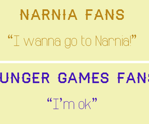 fan, narnia, and hunger games image