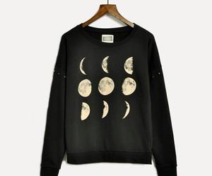 fashion, moon, and black image