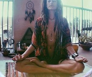 girl, meditation, and third eye image