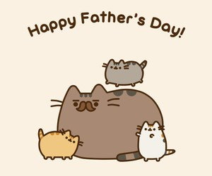 pusheen, cat, and father image