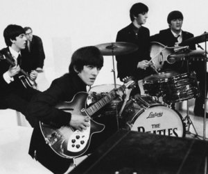 60's, beatles, and black and white image
