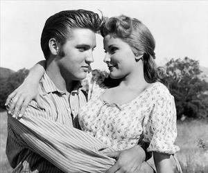Elvis Presley, love, and black and white image