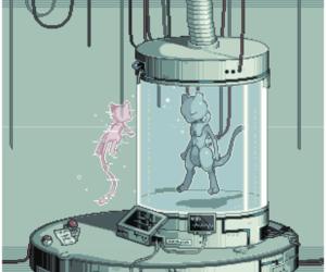 pixel, pokemon, and mew image