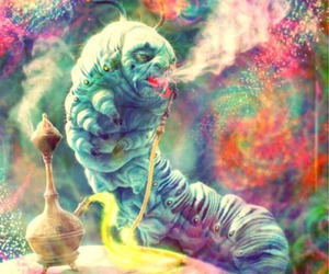 alice in wonderland and smoke image