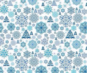 christmas, snow, and blue image