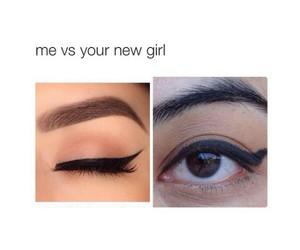 funny, makeup, and me image