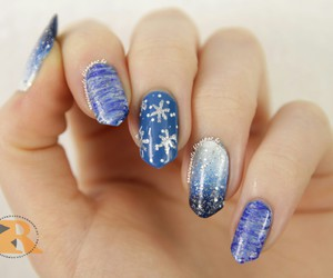 christmas, nail art, and nails image