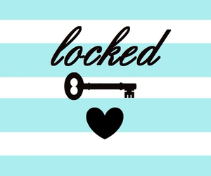blue, locked, and heart image