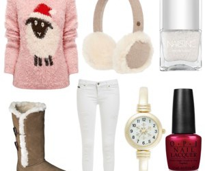 christmas, outfits, and sweater image