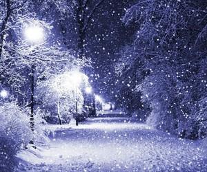beautifull, purple, and snow image