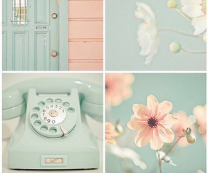 flowers, pastel, and vintage image