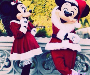 disney, christmas, and disneyland image