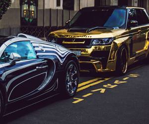 cars, land rover evoque, and buggati veyron image