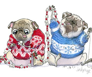 christmas and pug image