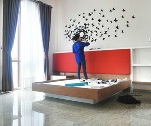 bedroom, butterfly, and decoration image