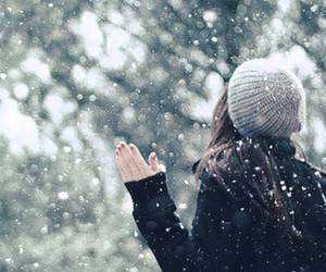cold, white, and girl image