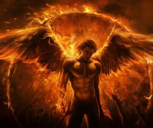 3d, fire, and wing image