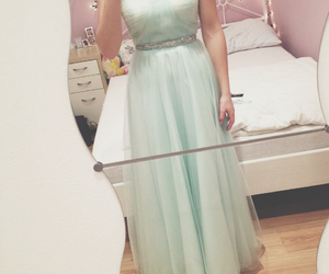 dress, girl, and prom dress image