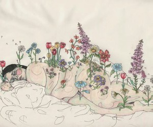 flowers, art, and body image