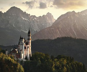castle, beautiful, and mountains image