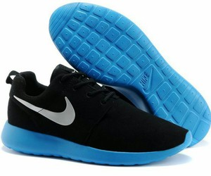 black, blue, and nikes image