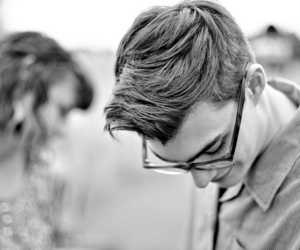black and white, hipster, and boy image