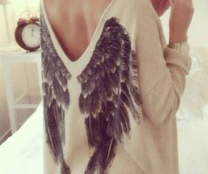 fashion, wings, and angel image